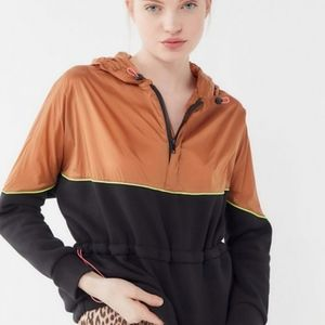 Urban outfitters gold tan black colorblock hoodie